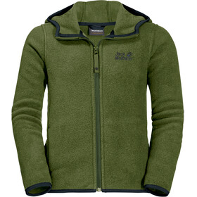 Jack Wolfskin Baksmalla Hooded Jacket Kids cypress green